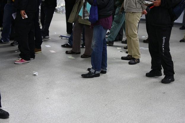 24 スパーキングルームでは川崎開催時より多くのゴミが散乱