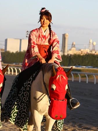川崎競馬の誘導馬01月開催 獅子舞 和服Ver-120102-08
