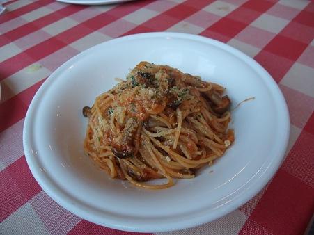 自家製ミートソースのスパゲティ