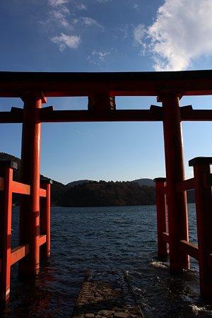 箱根神社と芦ノ湖