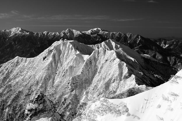 純白の権現岳