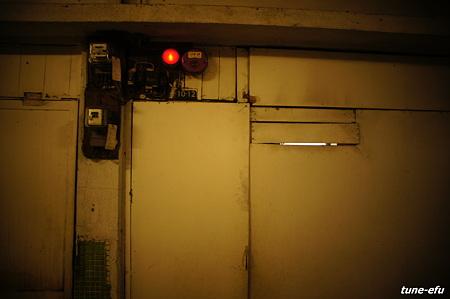 報知器のある壁