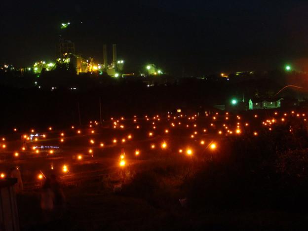 寺坂棚田、ほたるかがり火祭