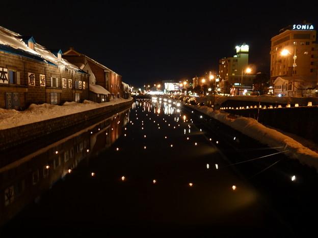 小樽運河の灯り・コンデジ