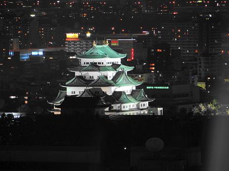 テレビ塔からの名古屋城夜景