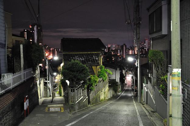富士見坂・夜間
