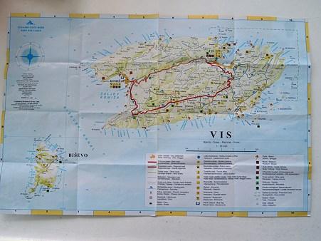 ヴィス島地図