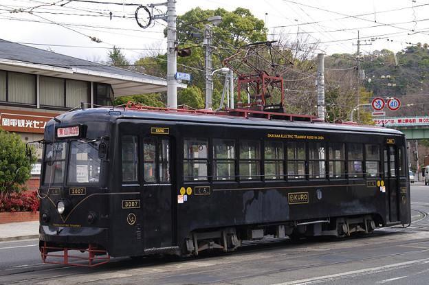s4988_岡山電軌3007号KURO_東山車庫出庫