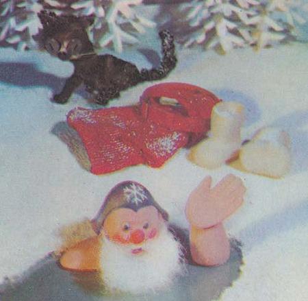 サンタさん、寒中入浴!拡大