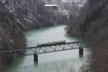 只見線 只見川第三橋梁