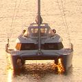 カタマラン(双胴船) マニラ湾の船