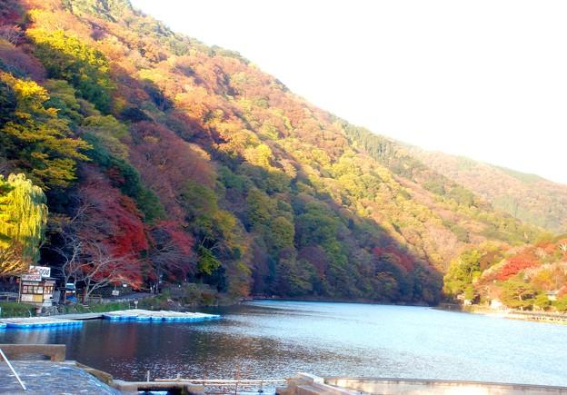 嵐山と・大堰川の朝景-2-D8-006