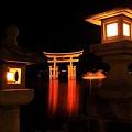 Photos: 闇の中に浮かぶ宮島鳥居