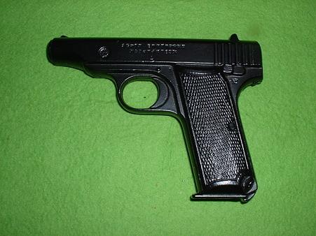 中田製 無可動文鎮「1式(浜田式)拳銃」 左側面 Doburoku-TAO