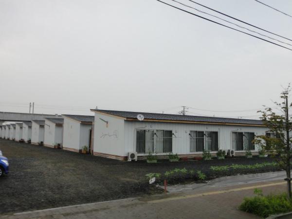 美田園駅近くの仮設住宅