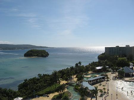 ホテルからの眺め(アルパット島が見える)