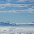 Photos: 唐松岳山頂から富士臨む